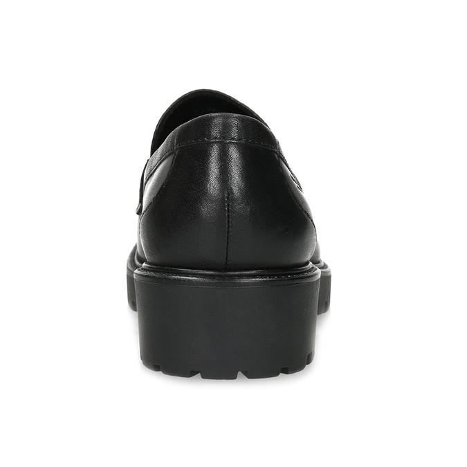 Černé kožené mokasíny na výrazné podešvi vagabond, černá, 524-6110 - 15