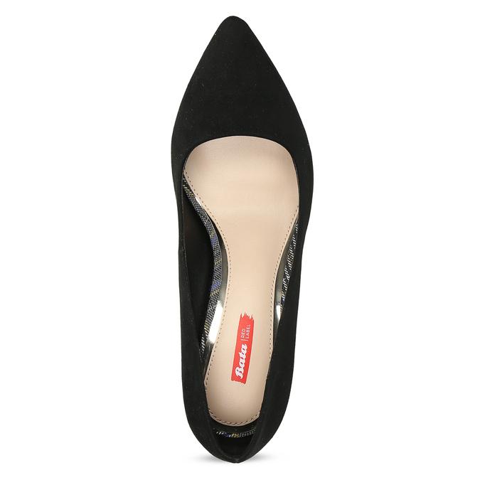 Černé dámské lodičky na jehlovém podpatku bata-red-label, černá, 729-6600 - 17