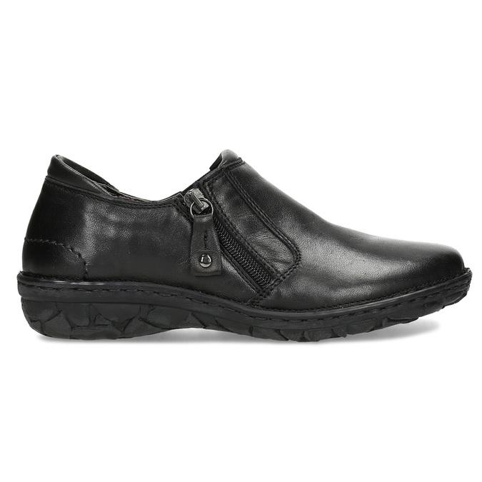 Dámská černá kožená Slip-on obuv bata, černá, 594-6625 - 19