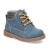 Dětská modrá kotníčková obuv s prošitím bubblegummers, modrá, 116-9620 - 13