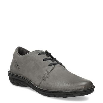 Šedé dámské kožené ležérní polobotky bata, šedá, 594-2601 - 13