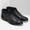 Modrá pánská kožená kotníčková obuv bata, modrá, 826-9937 - 26