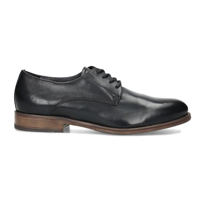 Dámské kožené černé Derby polobotky bata, černá, 524-6608 - 19