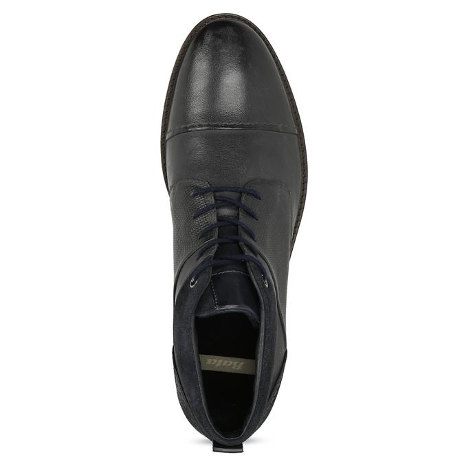 Modrá pánská kožená kotníčková obuv bata, modrá, 826-9937 - 17