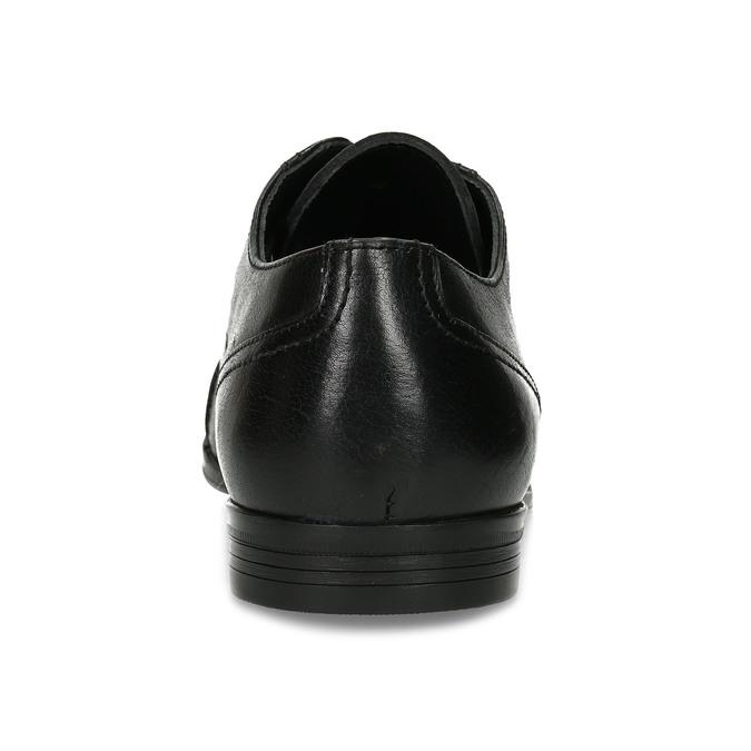 Černé pánské kožené Derby polobotky bata, černá, 824-6601 - 15