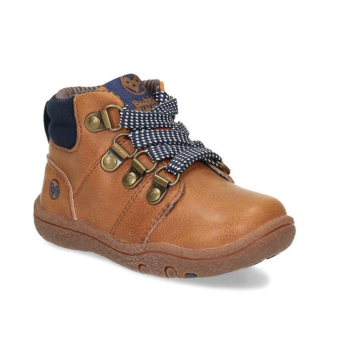 Hnědá dětská kotníčková obuv bubblegummers, hnědá, 111-3721 - 13