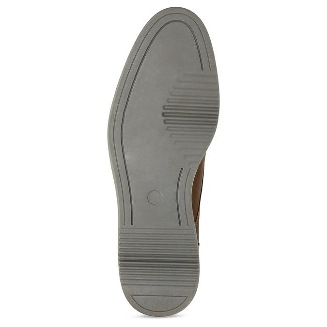 Pánská hnědá kotníčková obuv s prošitím bata-red-label, hnědá, 821-4665 - 18