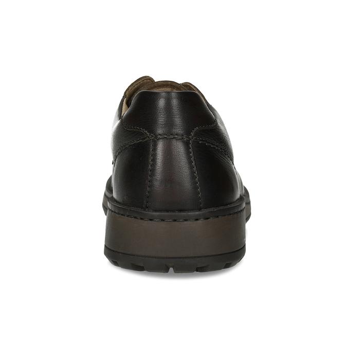 Hnědé pánské kožené ležérní polobotky comfit, hnědá, 826-4935 - 15