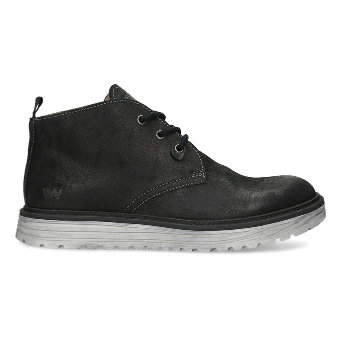 Kotníčková černá kožená pánská obuv weinbrenner, černá, 846-6735 - 19