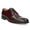 Vínové pánské kožené Derby polobotky bata, červená, 826-5903 - 13