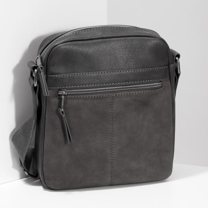 Šedá pánská taška přes rameno bata, šedá, 961-2714 - 17