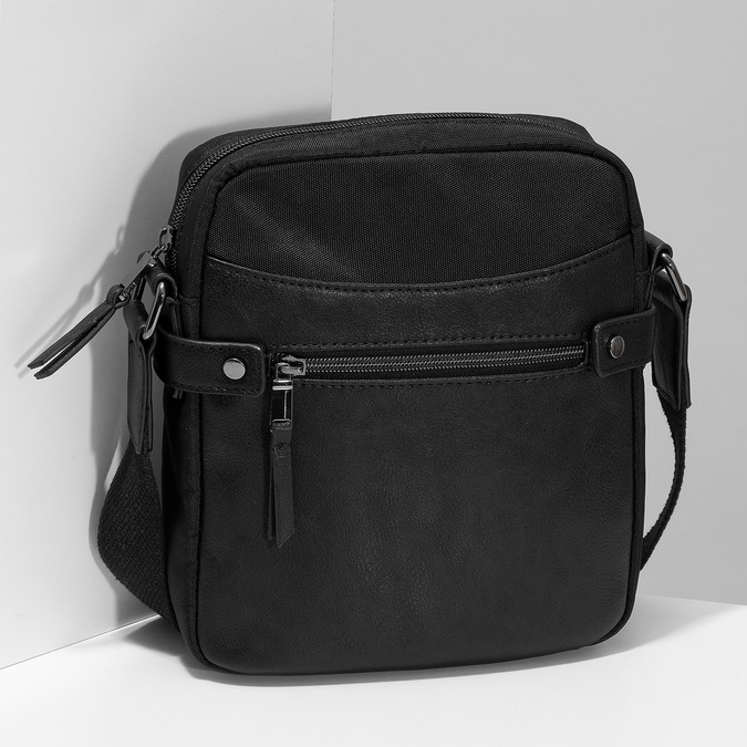 Pánská černá Crossbody taška bata, černá, 969-6793 - 17