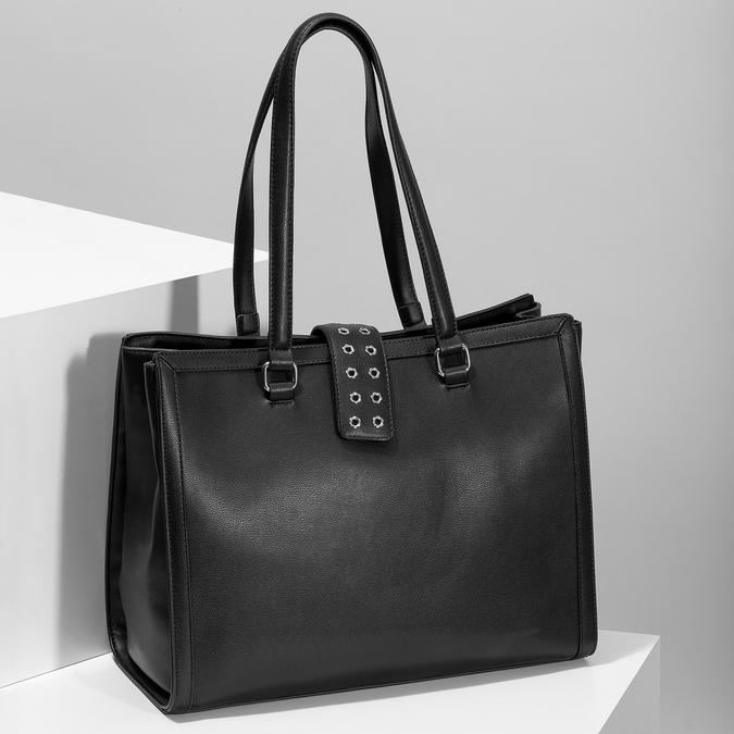 Černá dámská kabelka se cvoky bata, černá, 961-6998 - 17