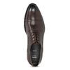 Hnědé pánské kožené Derby polobotky bata, hnědá, 826-4604 - 17