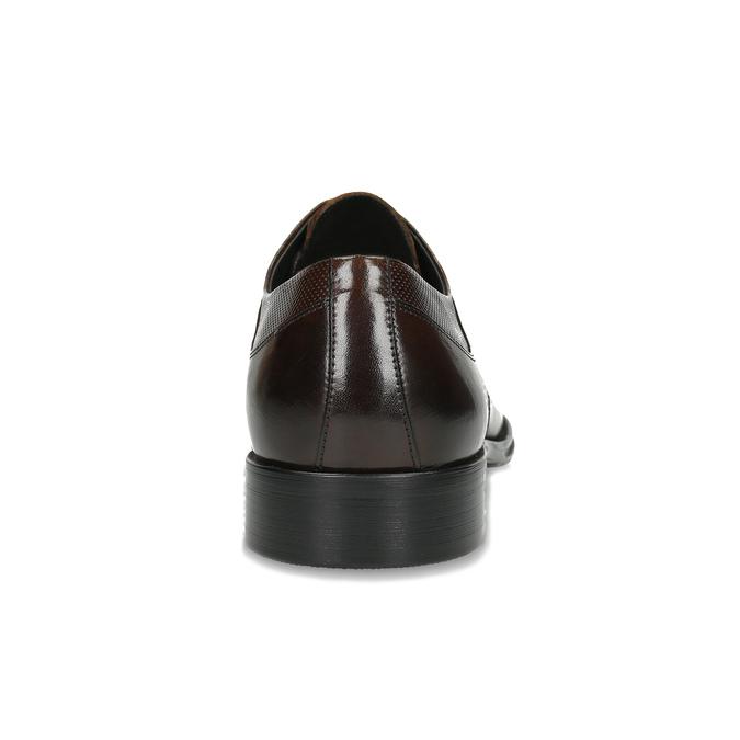 Pánské hnědé kožené Derby polobotky bata, hnědá, 826-4607 - 15