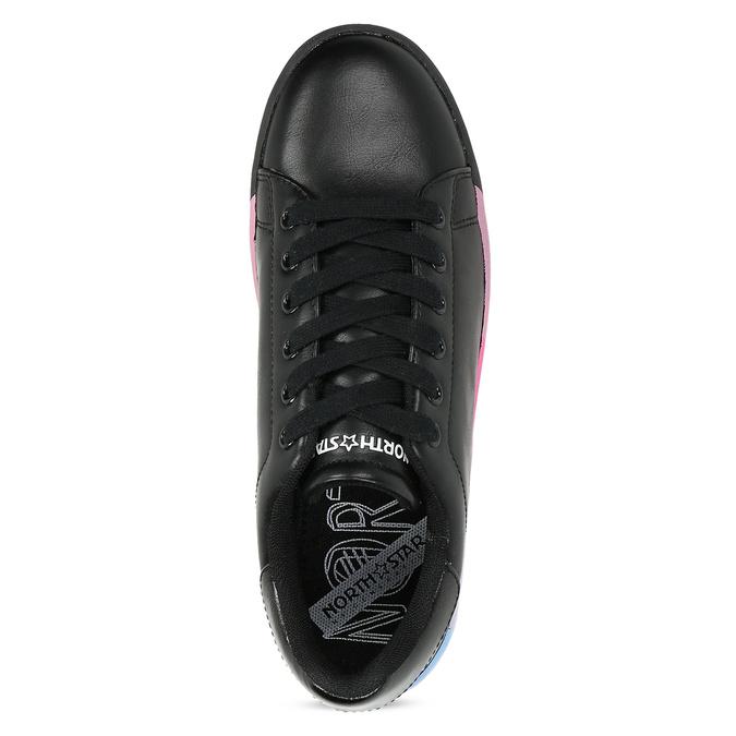 Černé dámské tenisky s barevnou podešví north-star, černá, 541-6611 - 17
