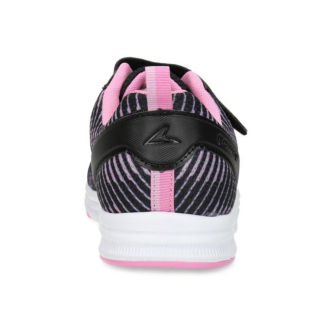 Dětské černé tenisky s růžovými detaily power, černá, 409-5413 - 15