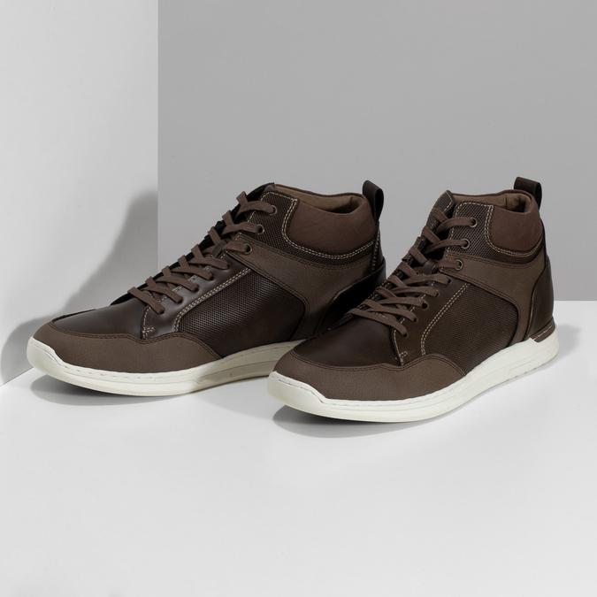 Hnědá pánská kotníčková obuv bata-red-label, hnědá, 841-4783 - 16