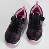 Dětské černé tenisky s růžovými detaily power, černá, 409-5413 - 16