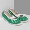Zelené dětské přezůvky s puntíky bata, zelená, 379-7100 - 26