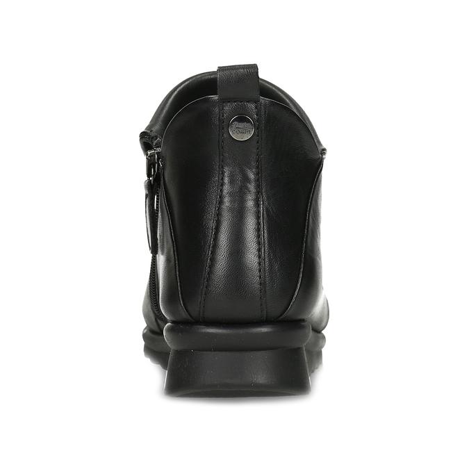 Dámské černé kožené kotníčkové kozačky comfit, černá, 594-6607 - 15