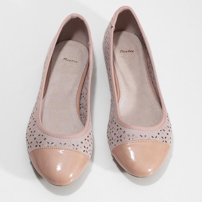 Růžové baleríny s kamínky bata, růžová, 529-8648 - 16