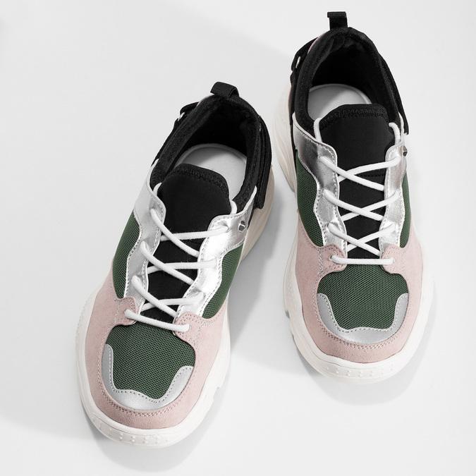 Dámské tenisky s výraznou podešví bata, vícebarevné, 549-0637 - 16