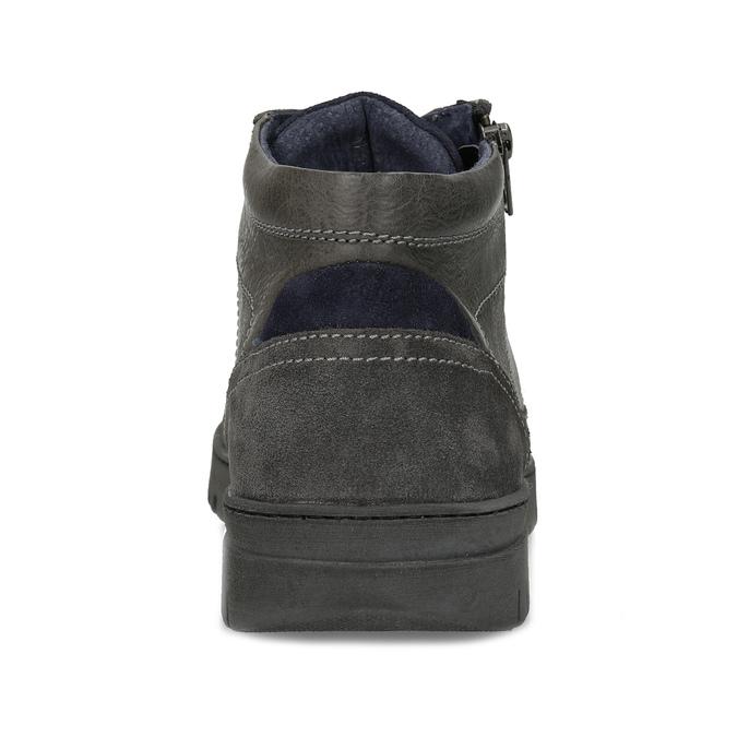 Kotníčková pánská obuv s prošitím bata, šedá, 846-2623 - 15