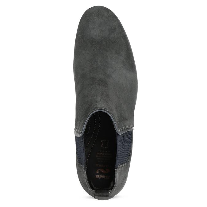 Šedá pánská kotníčková obuv z broušené kůže flexible, šedá, 823-2700 - 17