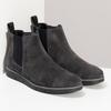 Šedá pánská kotníčková obuv z broušené kůže flexible, šedá, 823-2700 - 26
