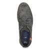 Šedé ležérní polobotky z broušené kůže bata, šedá, 826-2605 - 17