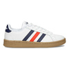 Bílé pánské ležérní tenisky s prošitím adidas, bílá, 801-1163 - 19