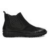 Kožená dámská kotníčková Chelsea obuv bata, černá, 594-6626 - 19