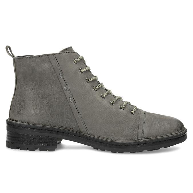 Šedá dámská kožená kotníčková obuv bata, šedá, 596-2604 - 19