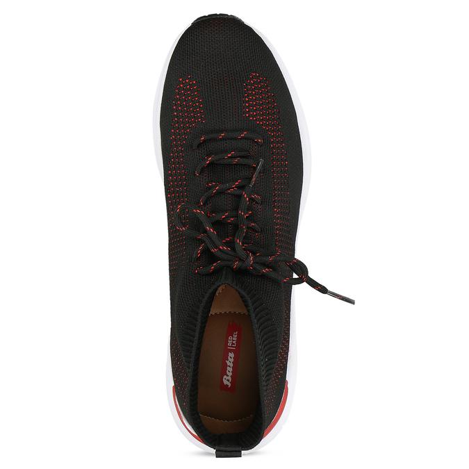 Pánské úpletové tenisky s červenými detaily bata-red-label, černá, 849-6775 - 17