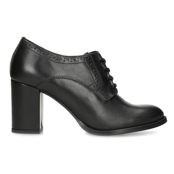 Kotníčkové kožené kozačky na stabilním podpatku bata, černá, 624-6611 - 19