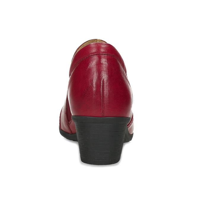 Červené kožené kotníčkové kozačky s prošitím gabor, červená, 626-5102 - 15