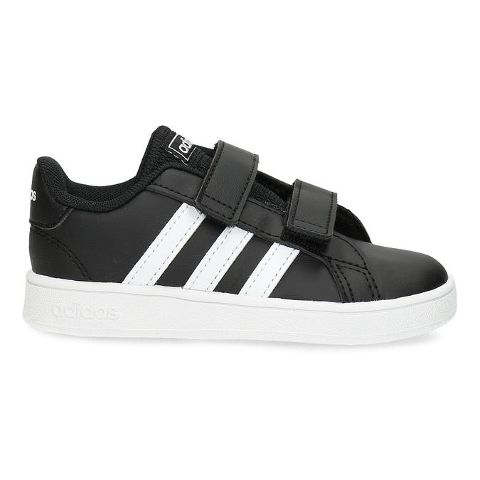 Černé dětské tenisky na suché zipy adidas, černá, 101-6281 - 19