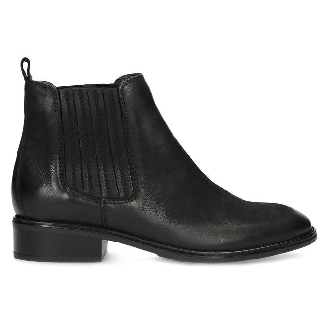 Černá kotníčková kožená obuv v Chelsea stylu bata, černá, 596-6609 - 19
