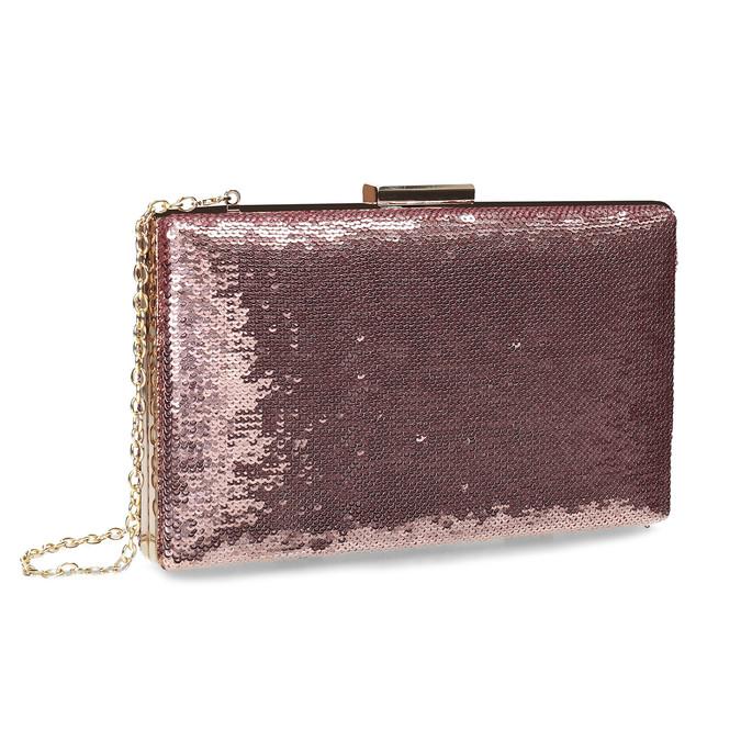 Růžové psaníčko s řetízkem a flitry bata, růžová, 961-8825 - 13