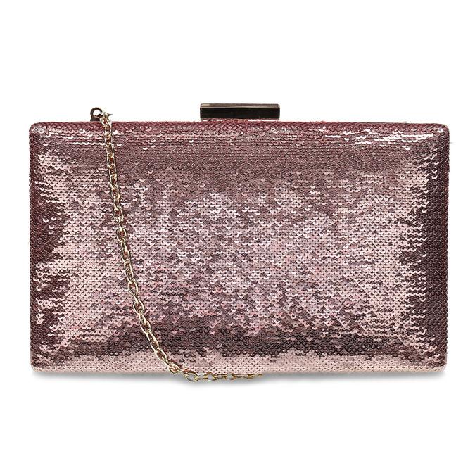 Růžové psaníčko s řetízkem a flitry bata, růžová, 961-8825 - 16