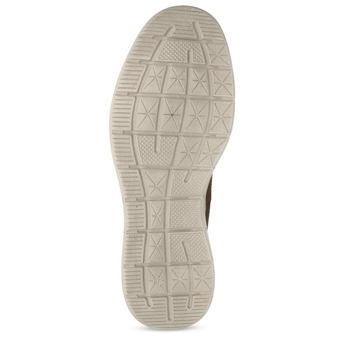 Pánská hnědá kožená kotníčková obuv weinbrenner, hnědá, 846-3638 - 18