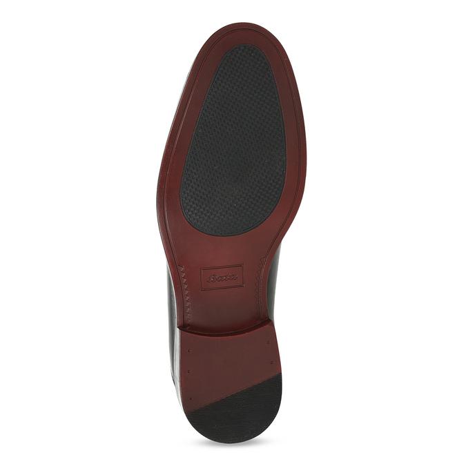 Černé pánské kožené Derby polobotky bata, černá, 824-6920 - 18