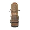 Kotníčkové hnědé dámské kožené kozačky weinbrenner, hnědá, 596-4610 - 15