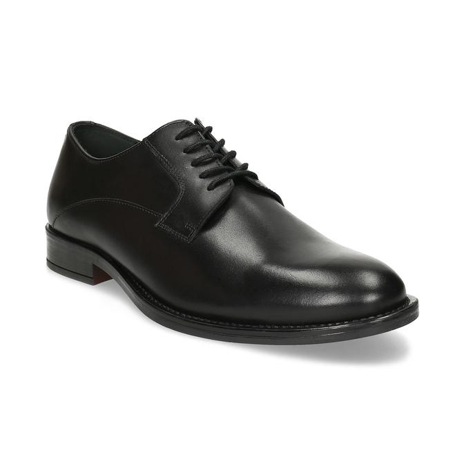 Černé pánské kožené Derby polobotky bata, černá, 824-6920 - 13