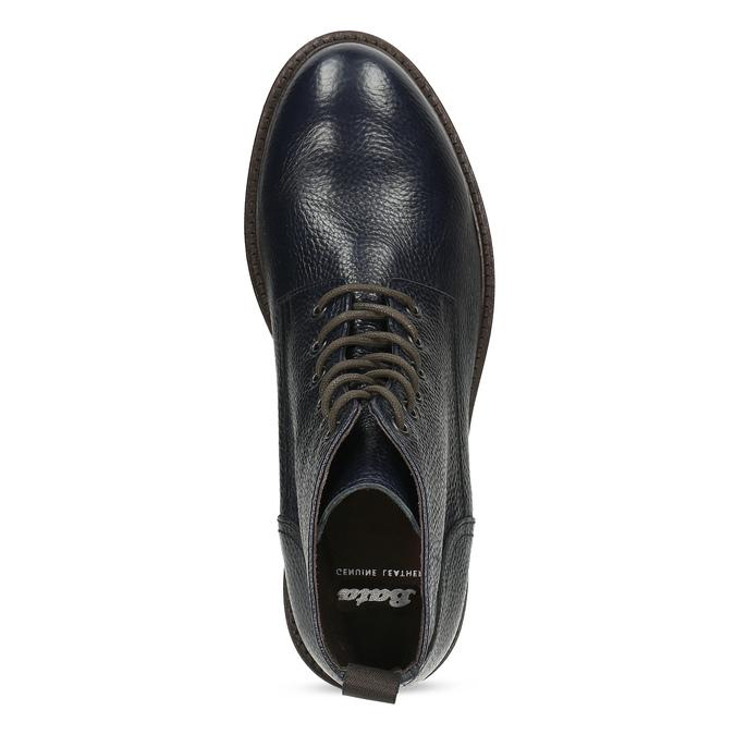 Modrá pánská kožená kotníčková obuv bata, modrá, 826-9631 - 17