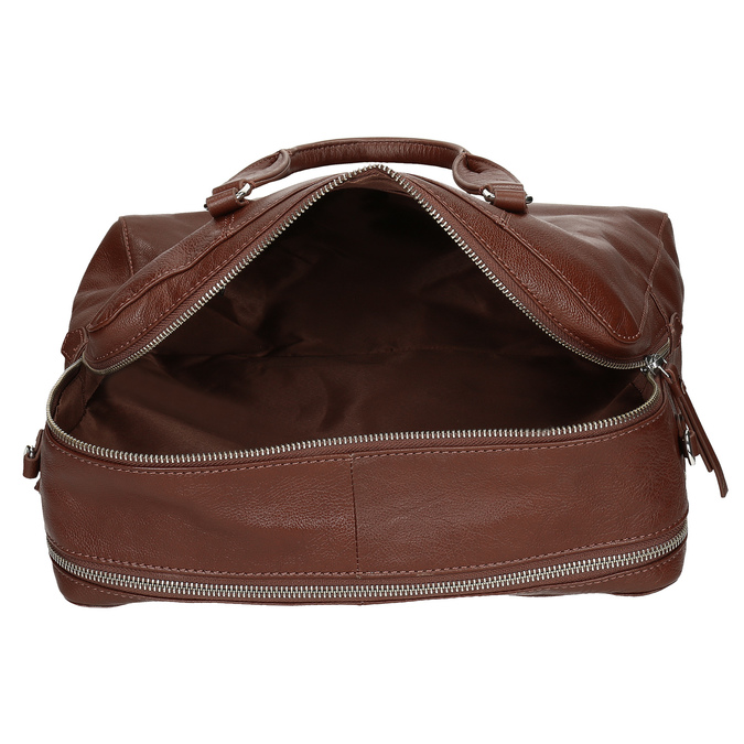 Dámská hnědá kožená taška s popruhem bata, hnědá, 964-3625 - 15