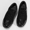 Kožené černé tenisky s lakovanými částmi gabor, černá, 526-6102 - 16