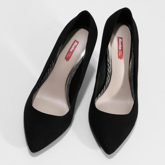 Černé dámské lodičky na jehlovém podpatku bata-red-label, černá, 729-6600 - 16