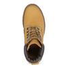 Dámské kožené Worker Boots s prošíváním weinbrenner, žlutá, 596-8603 - 17
